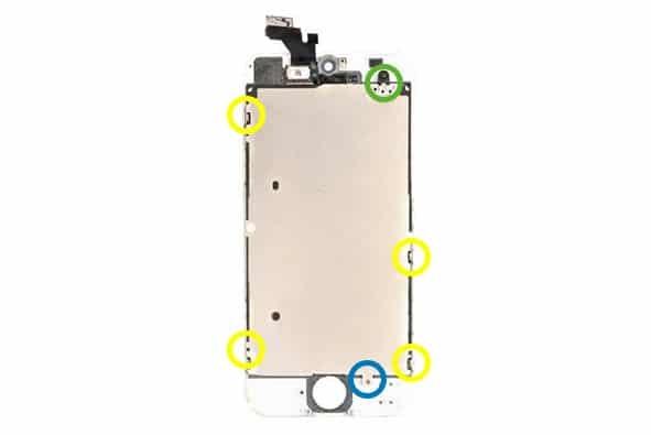 iphone 5 hitzeschild schrauben l