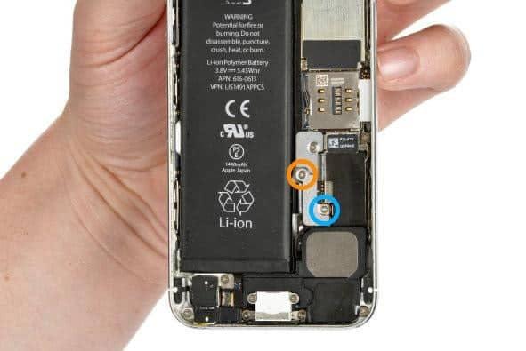 iphone 5 abdeckung akkuanschluss
