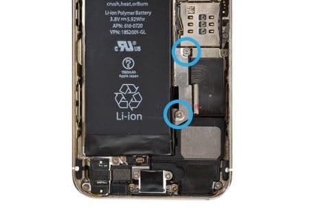 iphone 5s se akku abdeckung entf