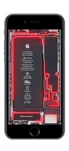 iphone 6 7 8 live hintergrund rot