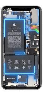 iphone xs max live hintergrund blau