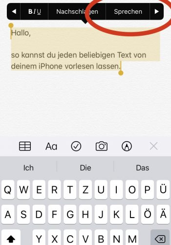 iphone text vorlesen lassen 5